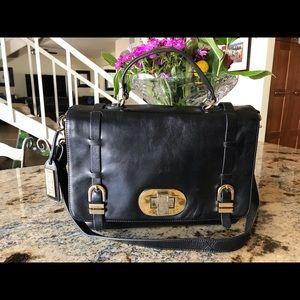 Badgley Mischka leather briefcase